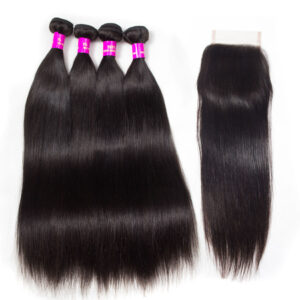 tinashe hair virgin straight hair bundles with closure