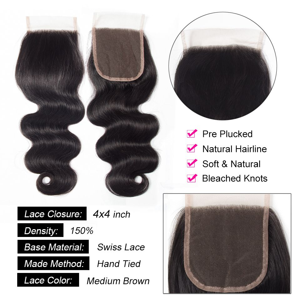 tinashe body wave closure detail