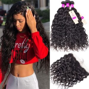 tinashe hair brazilian water wave 3 bundles with frontal