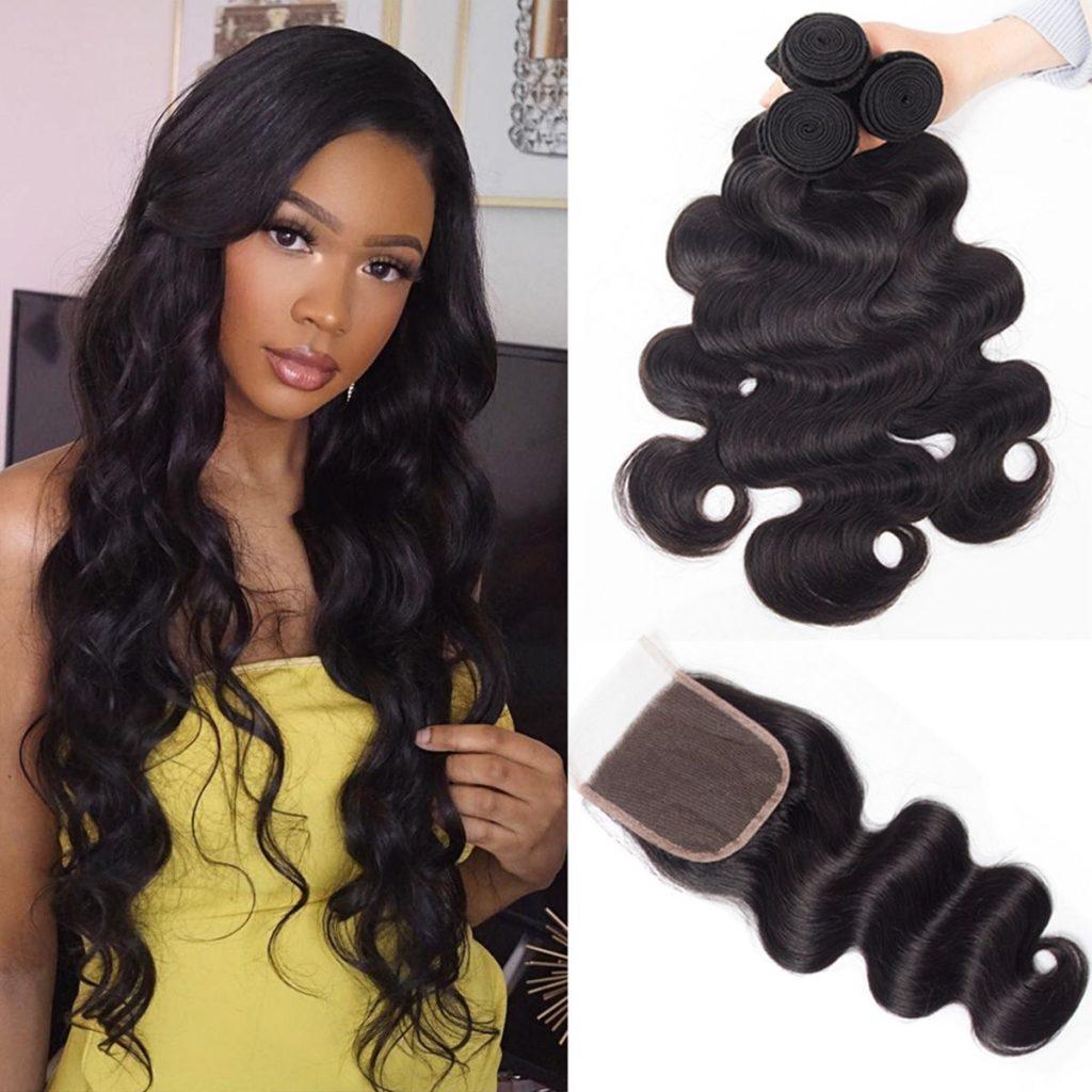 tinashe-hair-Pervian-body-wave-3-bundles-with-closure