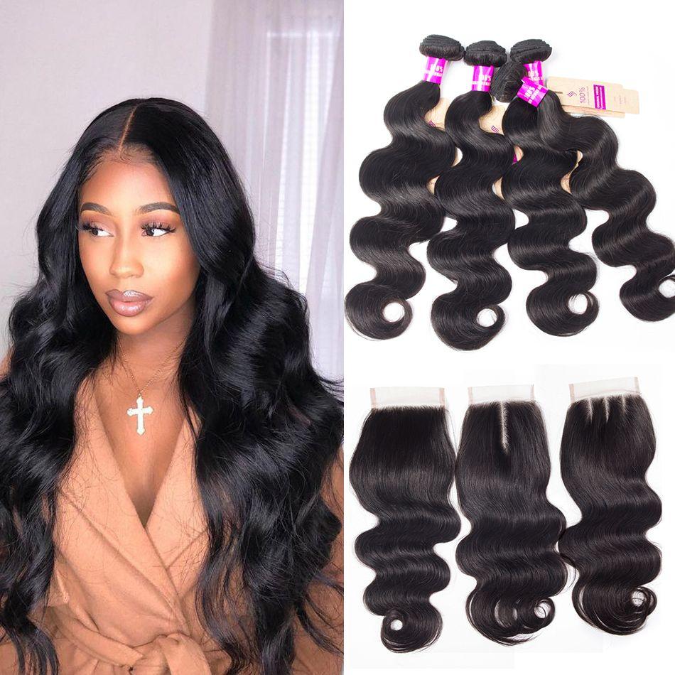 tinashe hair peruvian body wave 4 bundles with closure