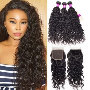 tinashe hair water wave 3 bundles with closure