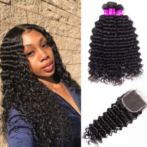 indian deepwave 3 bundles with closure