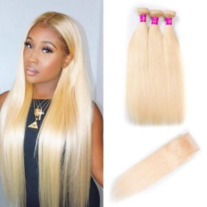 tinashe blonde straight hair with closure