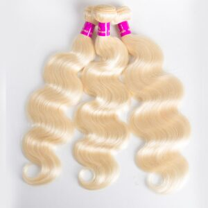 blonde body wave 3 bundles