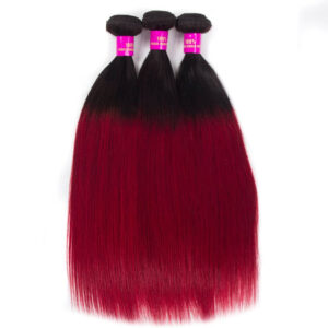 Tinashe hair straight hair bundles ombre hair 1b burgundy