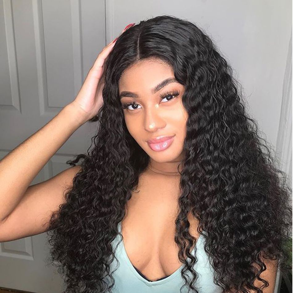 Tinashe hair deep wave curly wigs