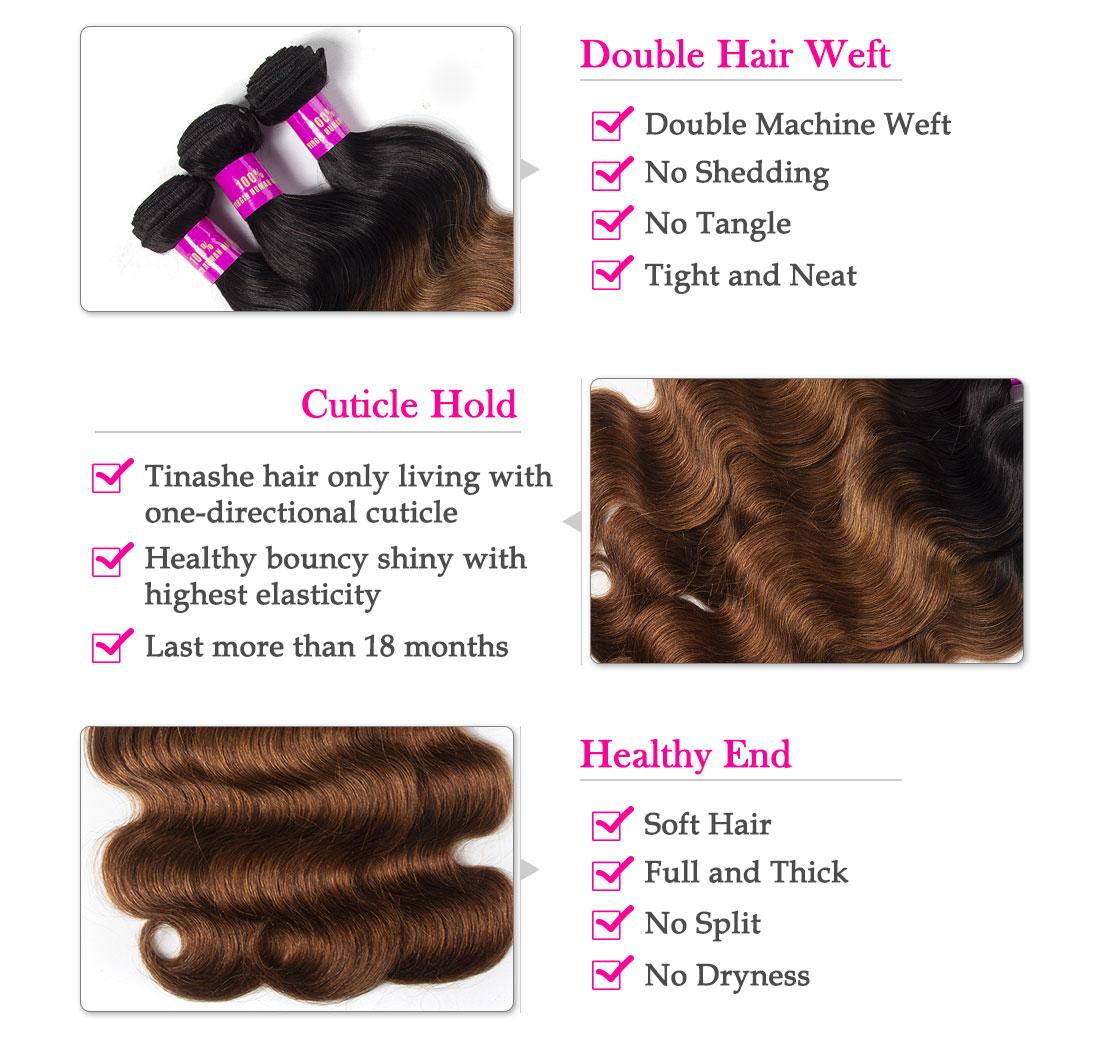 Tinashe hair 1b 30 ombre body wave bundles
