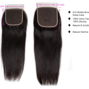 tinashe hair straight 5×5 closure