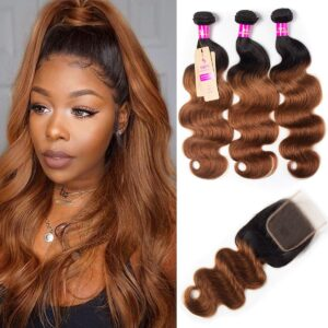 tinashe hair 1b30 body wave with closure