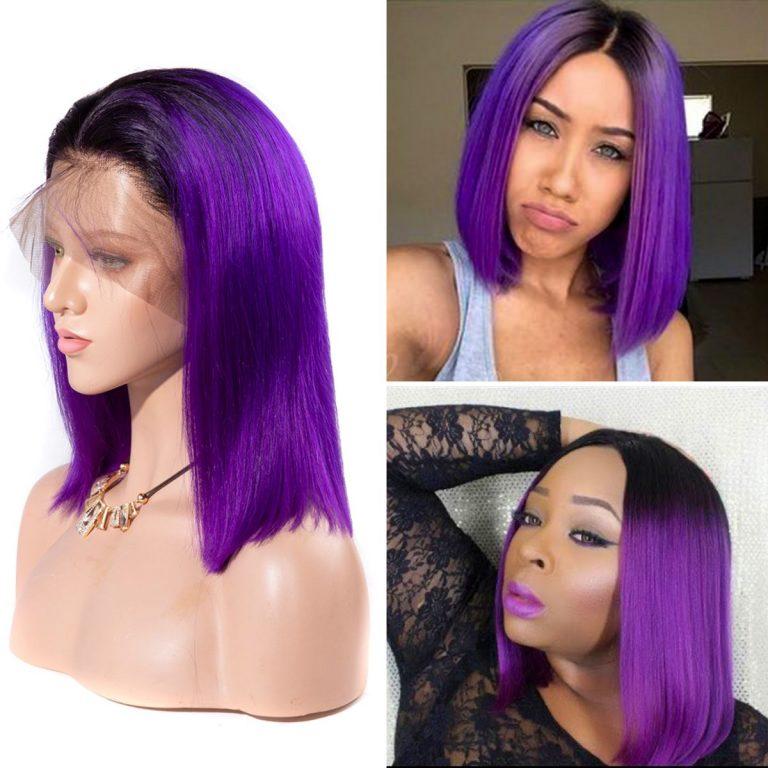 15 colorful short bob striaight hair wigs 1b Indigo