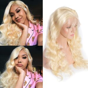 blonde body wave wig 1