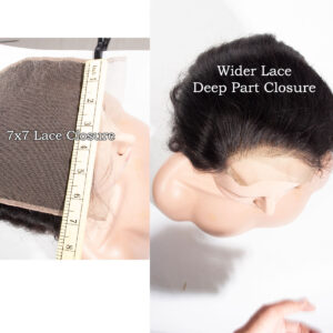 loose deep 7x7 lace closure