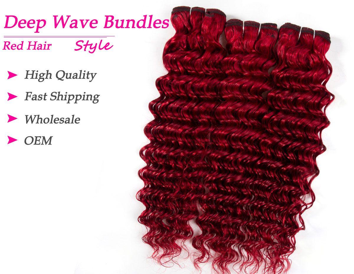 red deep wave bundles