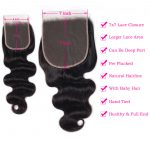tinashe hair 7x7 body wave closure