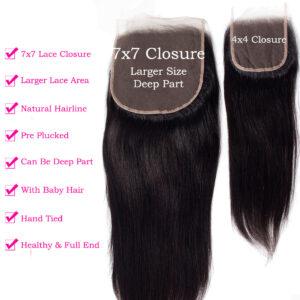 tinashe hair 7x7 straight hair closure