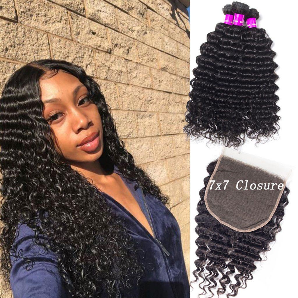 tinashe-hair-deep-wave-7×7-bundles-with-closure