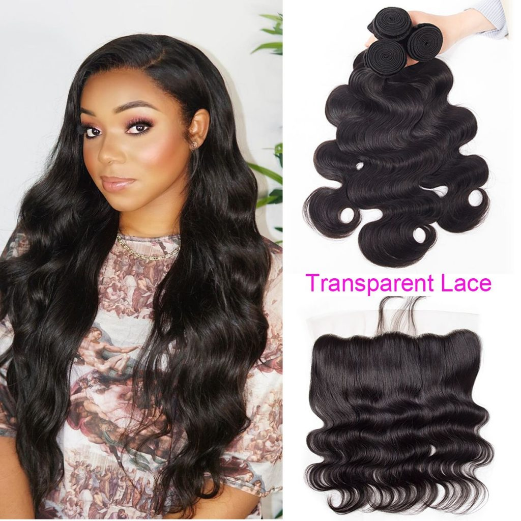 tinashe hair transparent lace frontal body wave