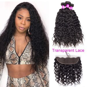 tinashe hair transparent lace frontal water wave