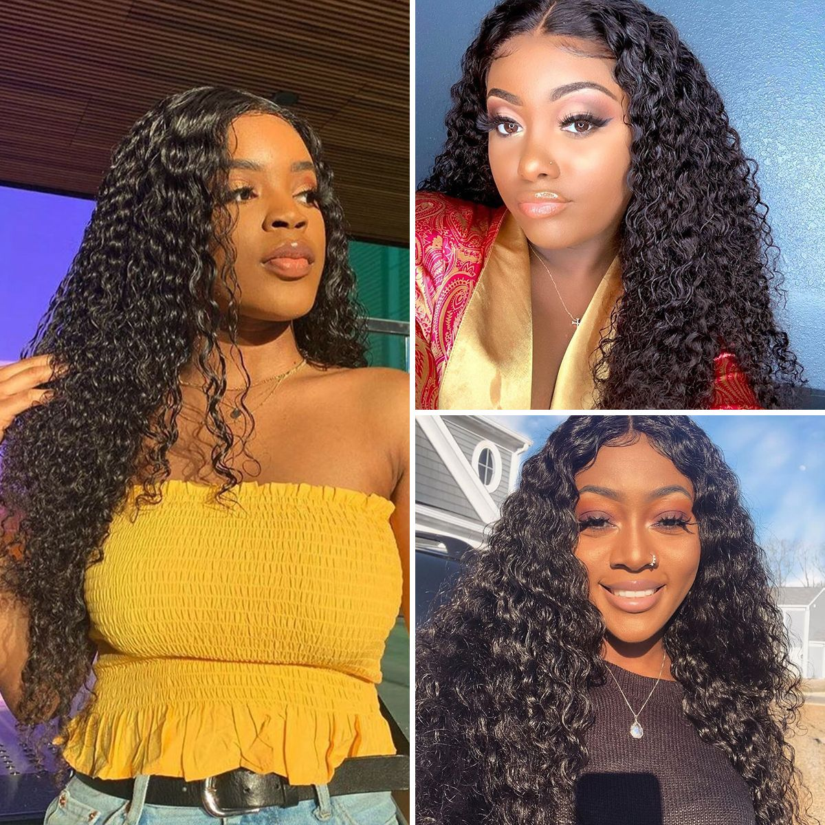 Curly 13x4 lace-front-wig