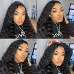 4x4 lace closure water wave wig