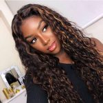 Highlight water wave 13x4 lace front wig