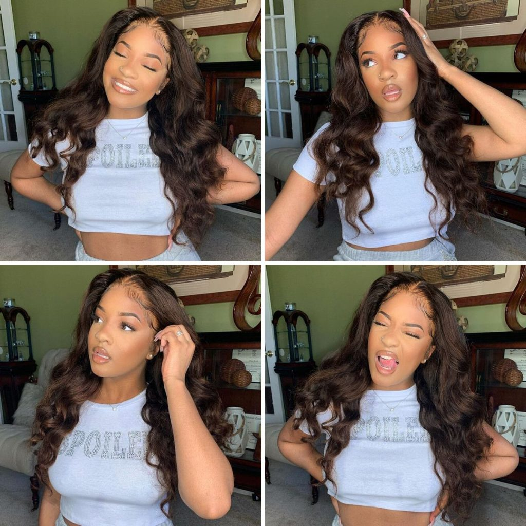 Brown-color-body-wave-lace-front-wig