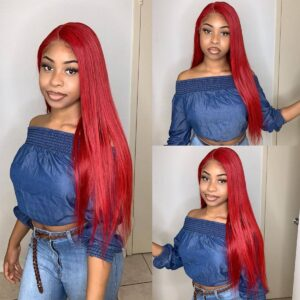 Red-straight-13x6-lace-wig