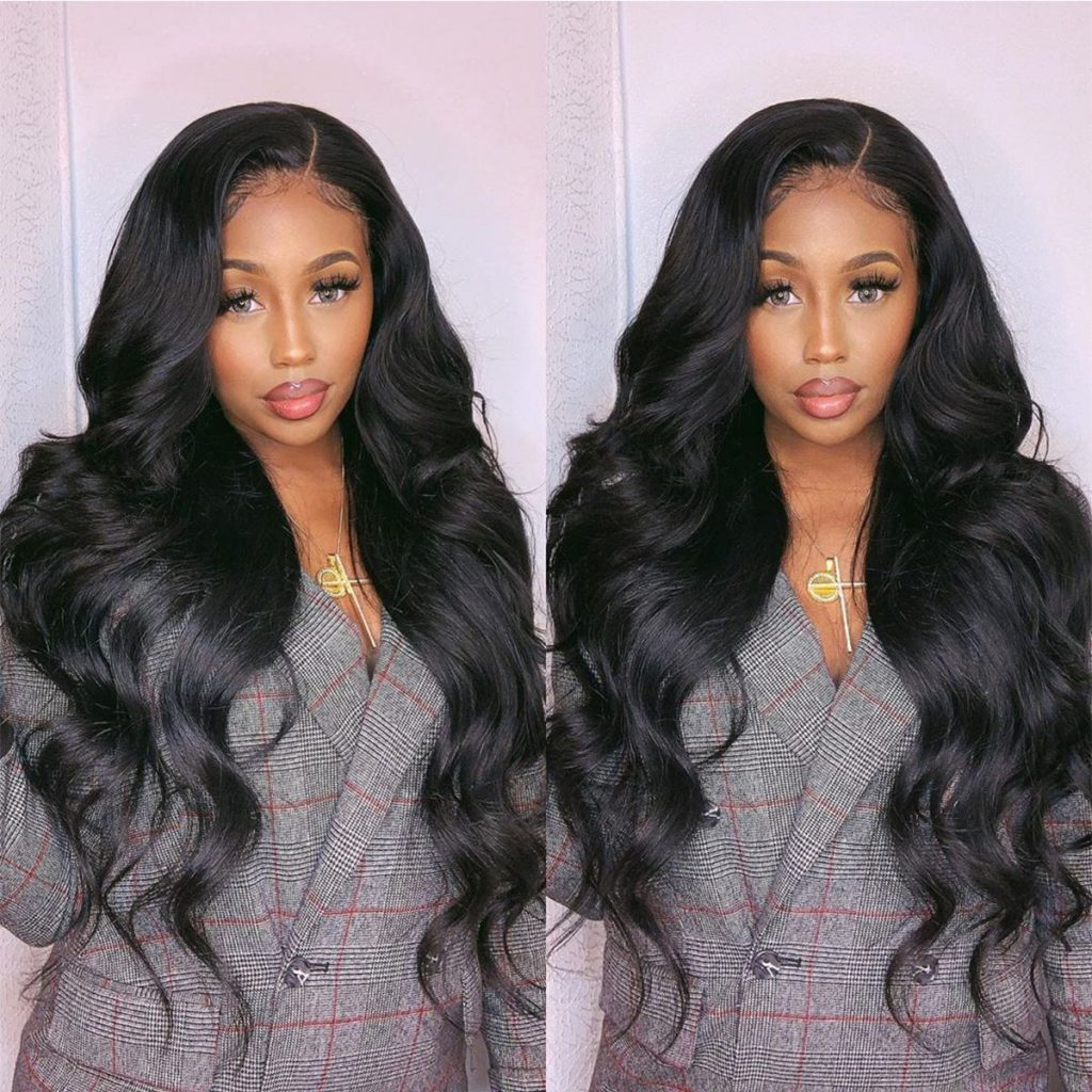 Transparent Body-wave-high-density-lace-front-wigs-250%