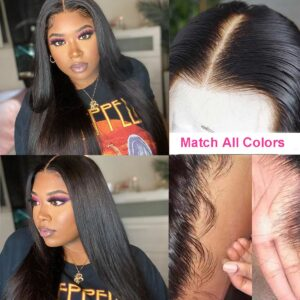 Transparent-lace-front-wig-straight-high-density