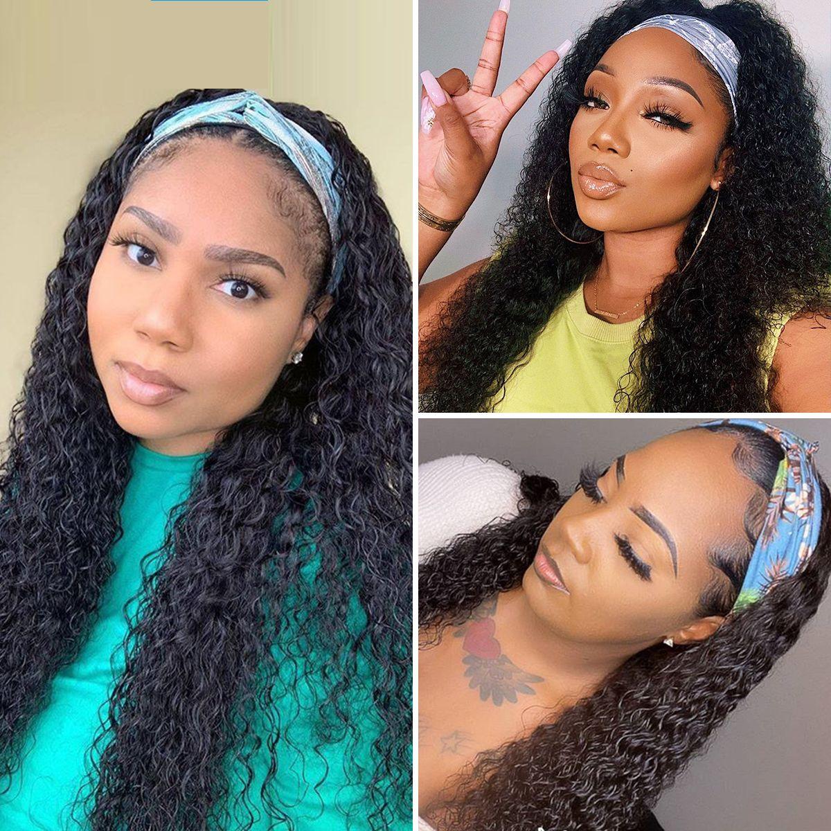 Curly-headband-wig