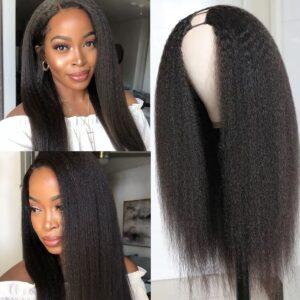 Kinky-straight-U-part-wig