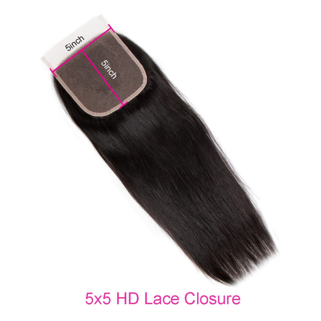 Straight 5×5 HD lace closure