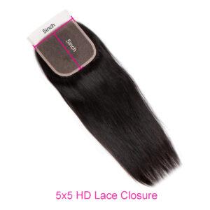 Straight 5x5 HD lace closure